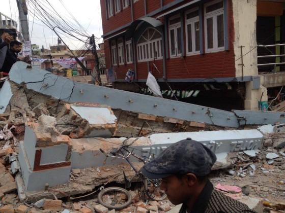 """Nepal Earthquake 2015 aftermath."" by Krish Dulal,"
